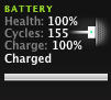 MacBook Pro battery after 155 charges